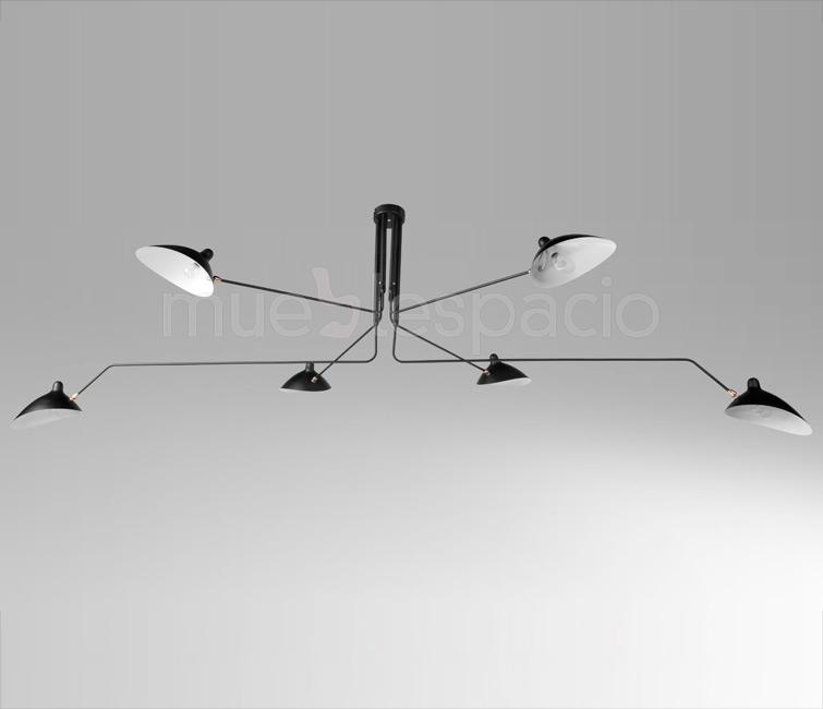 lampara serge mouille techo mueblespacio. Black Bedroom Furniture Sets. Home Design Ideas
