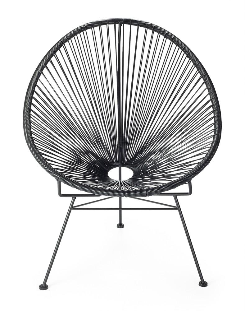Mueblespacio comprar silla acapulco negro de dise o online - Sillas acapulco baratas ...