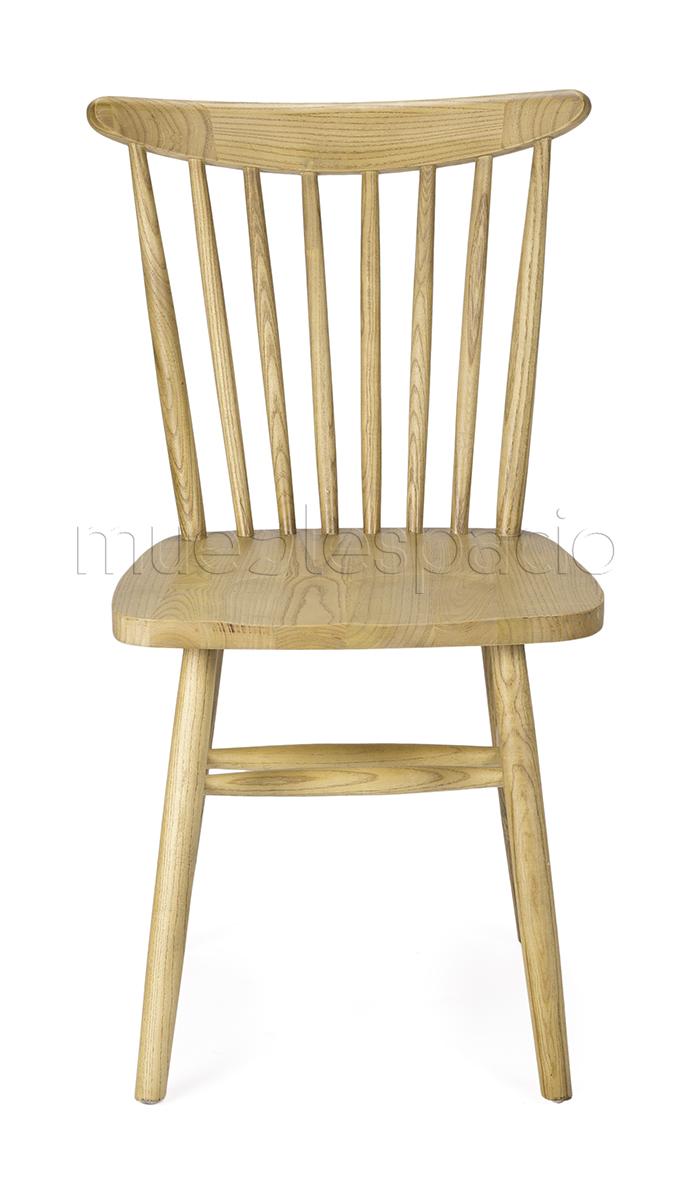 Silla n rdica madera mueblespacio for Silla nordica madera