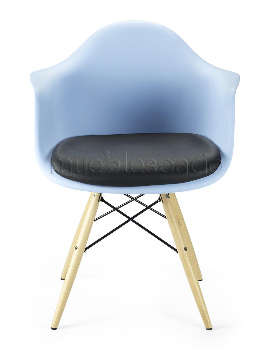 Sillon azul madera cojin de dise o estilo vintage industrial - Cojin sillon ...