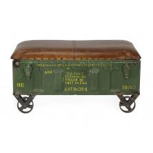 foto principal banco industrial cuero - Muebles De Diseo Baratos