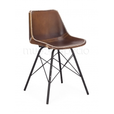 Sub foto Silla Leather leg marrón envejecido