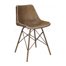 Sub foto Silla Leather leg marrón envejecido/oxido