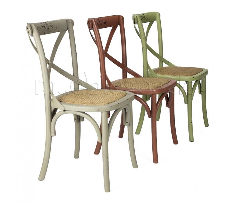 Mueblespacio comprar silla cross color antique verde de for Sillas online diseno