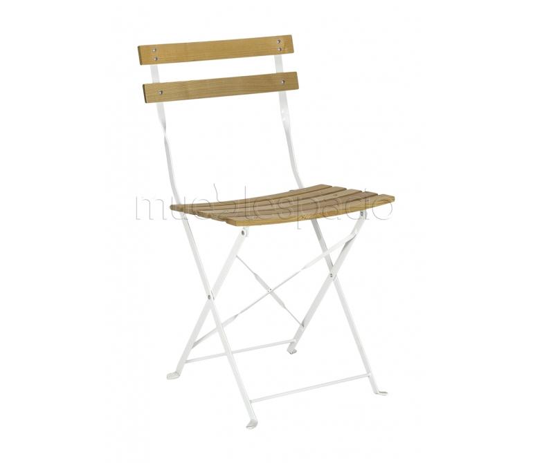Mueblespacio comprar silla bistro plegable madera de for Sillas online diseno