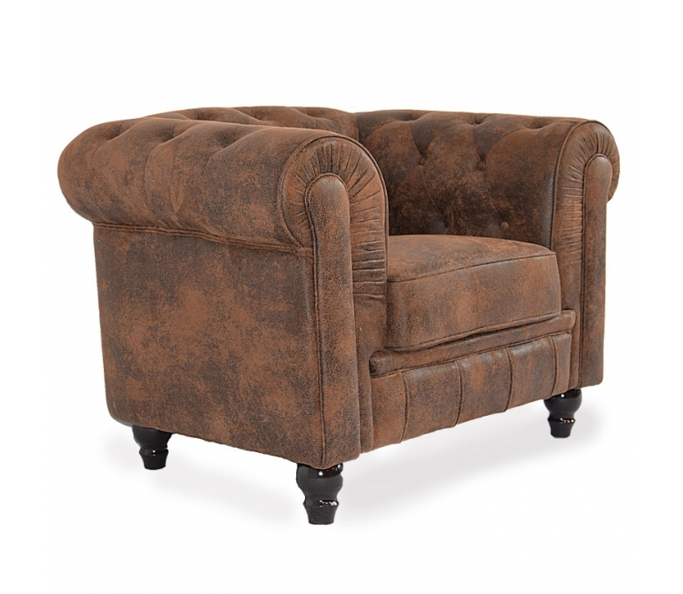 Sofa chesterfield microgamuza mueblespacio for Sofas chesterfield baratos