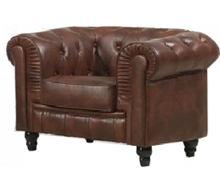 Comprar sofa chester 1 plaza piel colores marr n ref a707 for Comprar sofa chester barato