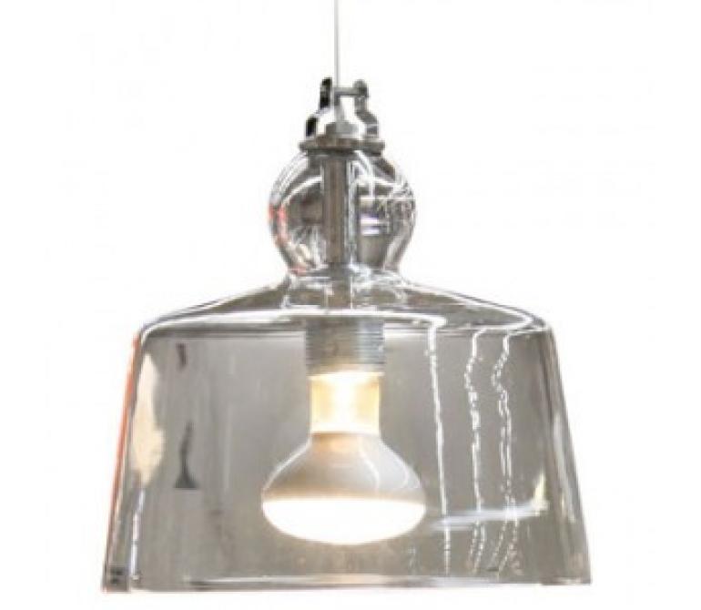 L mpara dise o de techo campana de cristal mueblespacio - Campana de cristal ikea ...