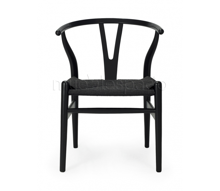 Silla wishbon ch24 de hans j wegner mueblespacio for Replicas mobiliario diseno
