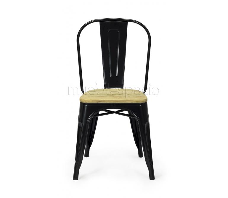 Comprar silla vita madera color colores negro ref 13451 for Sillas madera colores