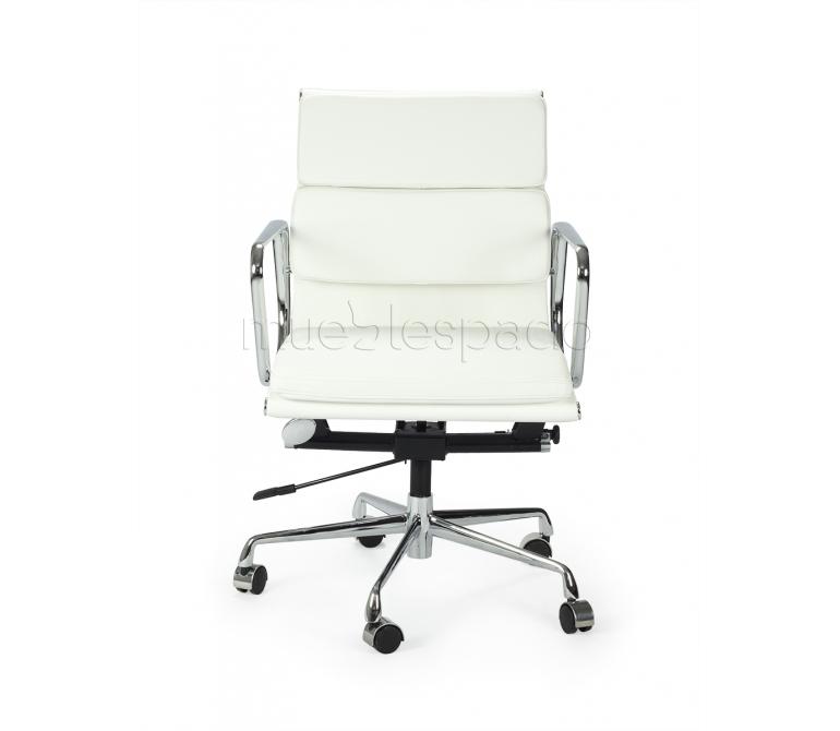 Comprar Silla Oficina Soft Semipiel R/B Colores: Blanco ,Ref: RT-524