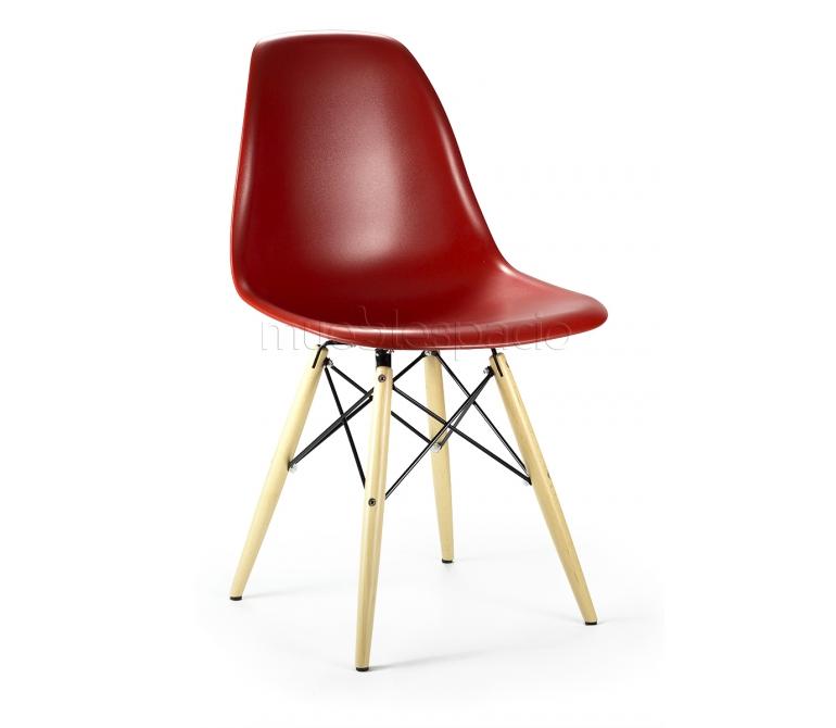 Mueblespacio comprar silla plastic madera roja abs de for Sillas online diseno
