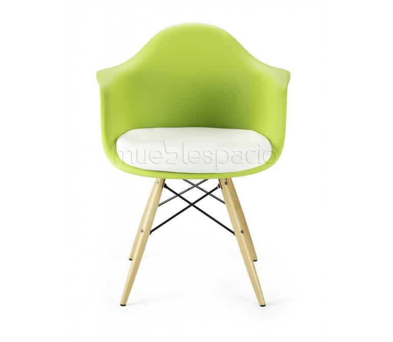 Sill n verde madera cojin de dise o estilo vintage industrial - Cojin sillon ...