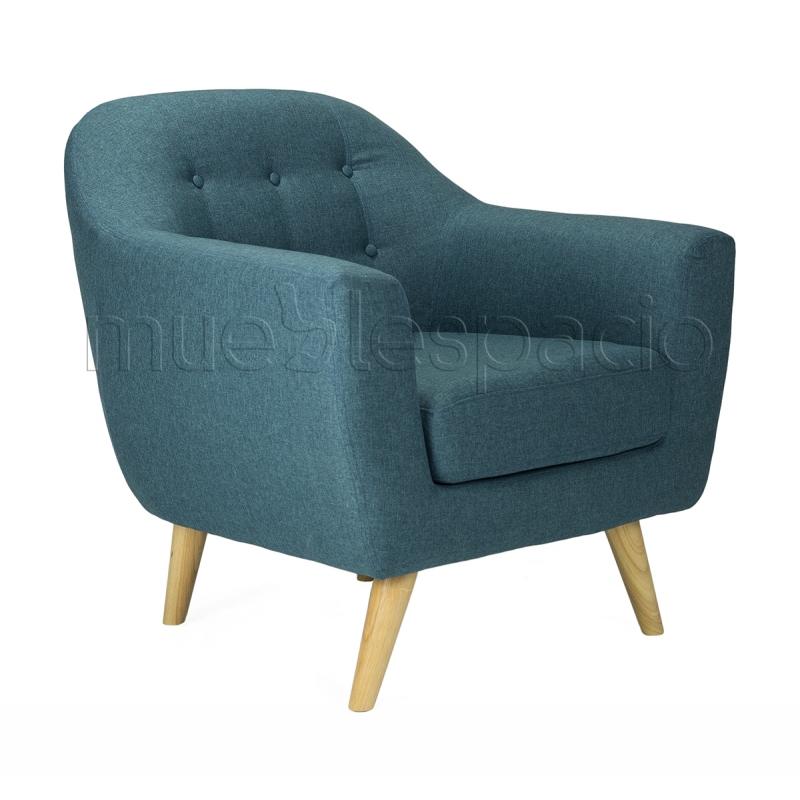 Comprar sill n n rdico karedia 1 plaza colores azul for Sillon 1 plaza barato