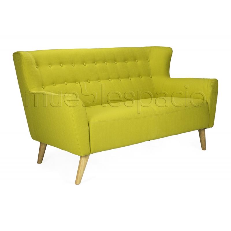 Comprar sof nordico isabella 2 plazas colores verde - Sofa verde pistacho ...