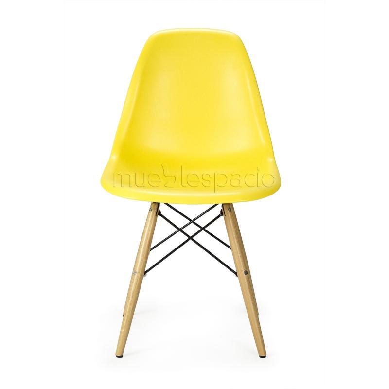 silla plastic madera abs de dise o estilo vintage industrial