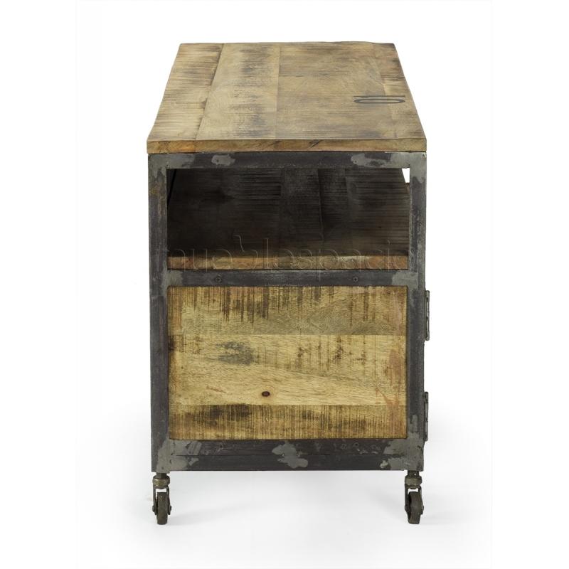 Mueble vintage de madera mueblespacio for Muebles diseno industrial vintage