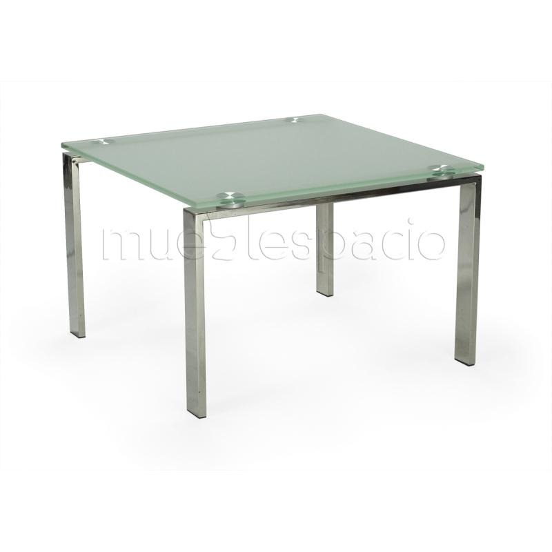 Mesa dise ode centro en cristal mueblespacio for Mesas de rinconera