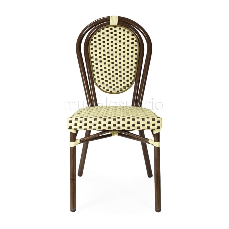 Silla parisina para exterior jardin terrazas mueblespacio for Ofertas sillas de jardin