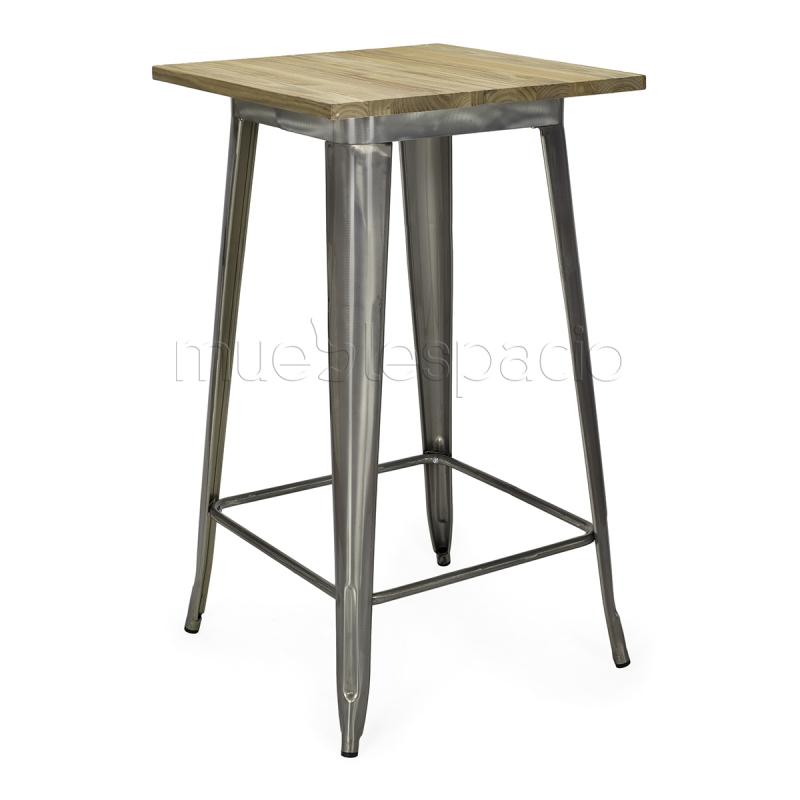 Mesa vintage industrial tolix xavier pauchard mueblespacio - Mesa madera industrial ...