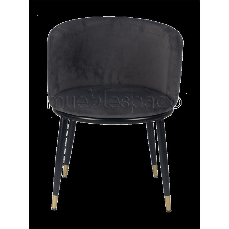 Sillon Velvet Ross gris de diseño   Mueblespacio