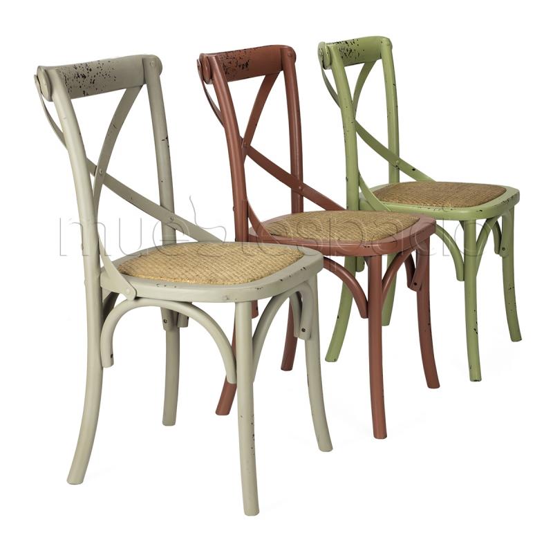 Mueblespacio comprar silla cross color antique gris de for Sillas color gris