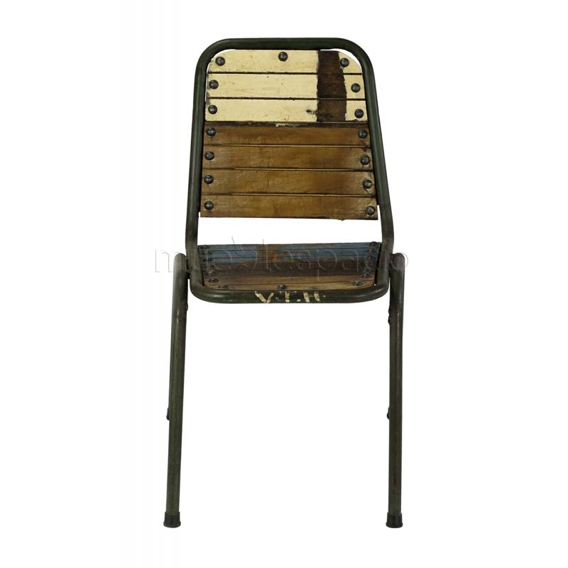 silla vintage madera reciclada mueblespacio