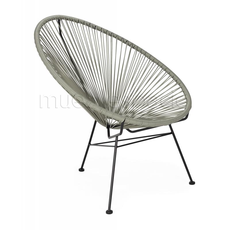 Mueblespacio comprar silla acapulco gris de dise o online for Sillas online diseno