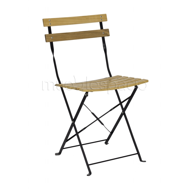 Mueblespacio comprar silla bistro plegable madera de for Sillas plegables diseno