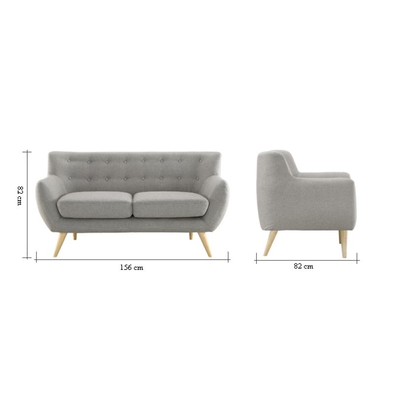 Sofa nordico 2 plazas mueblespacio for Sofas de diseno online
