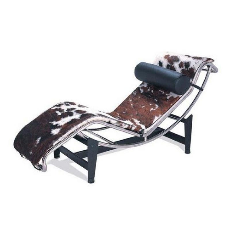 Chaise longue piel potro de dise o estilo vintage industrial for Sillones chaise longue