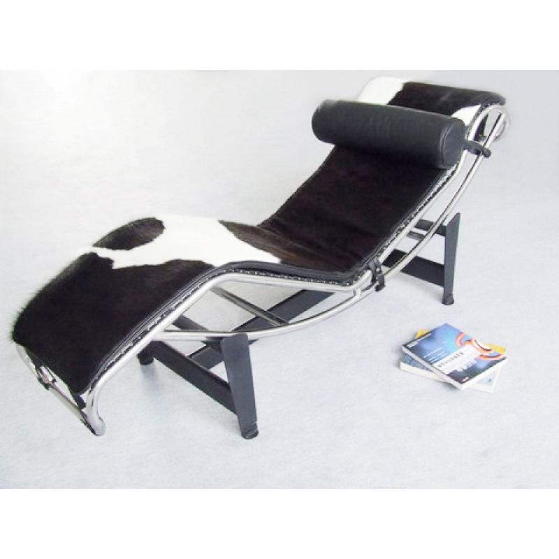 Chaise longue piel vaca de dise o estilo vintage industrial for Sillones chaise longue