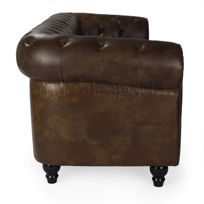 Comprar sofas sof chester 3plazas s piel envejecido de for Comprar sofa chester barato