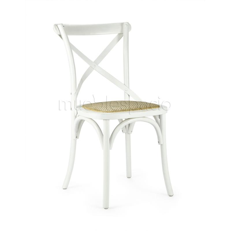 Mueblespacio comprar silla cross blanca de dise o online - Silla diseno blanca ...