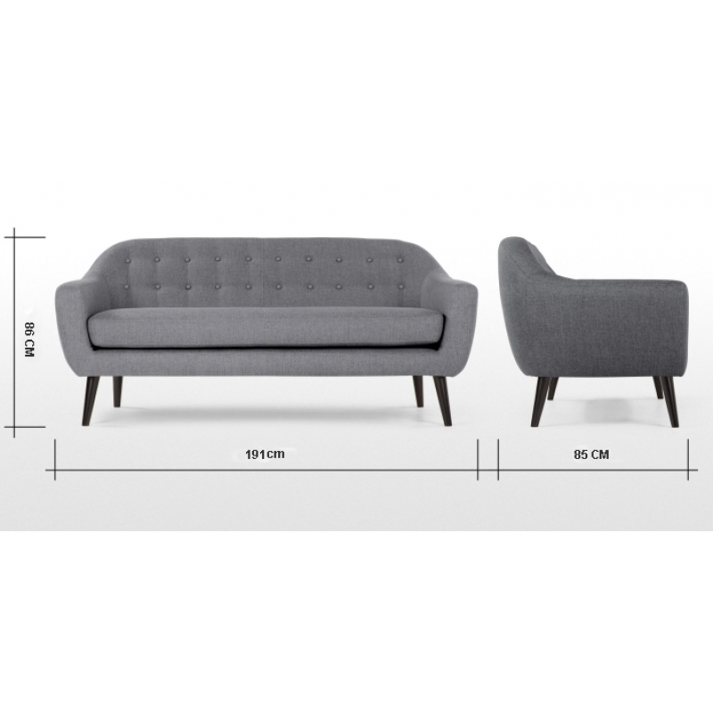 Sofa nordico 3 plazas | Mueblespacio