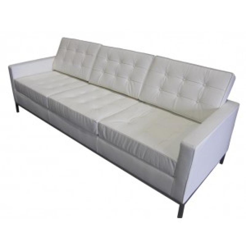 Comprar sofa floren 3 plazas piel colores blanco ref a6666 - Sofa piel blanco ...