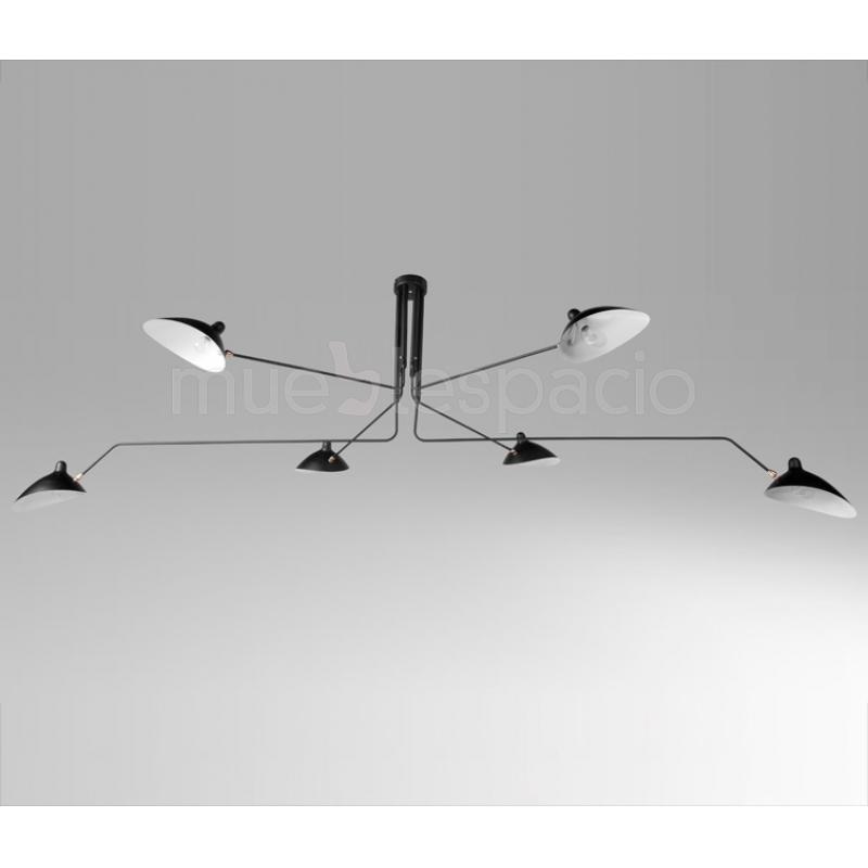 Lampara serge mouille techo mueblespacio for Replicas de lamparas