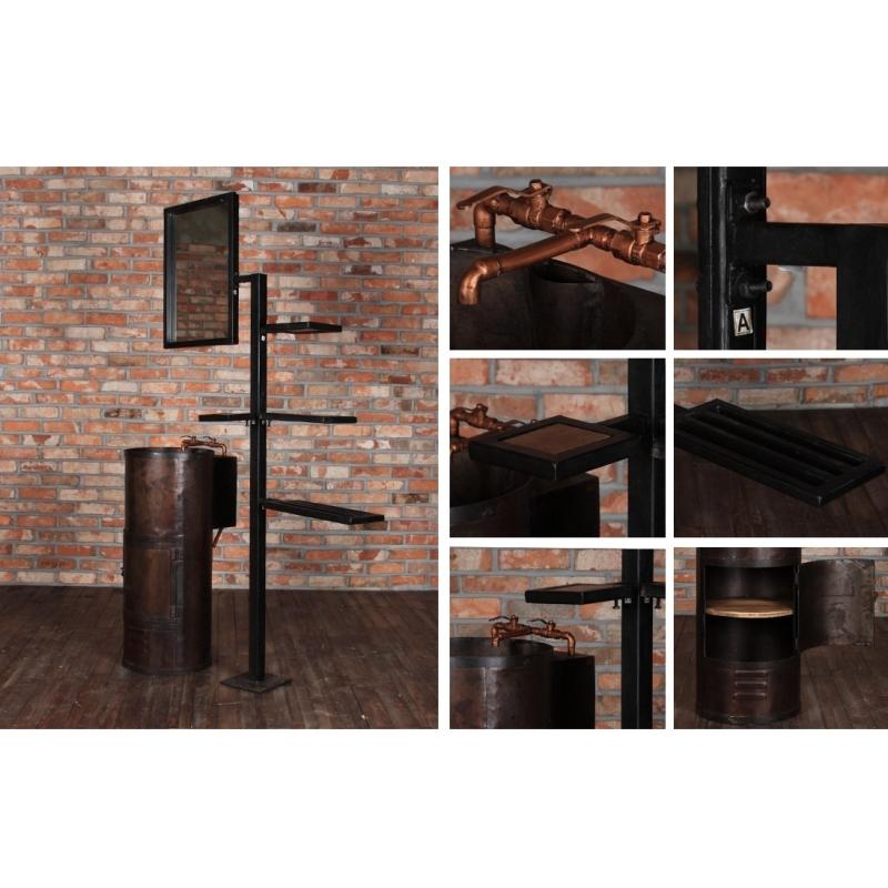 Lavabo industrial vintage mueblespacio for Lavabo industrial