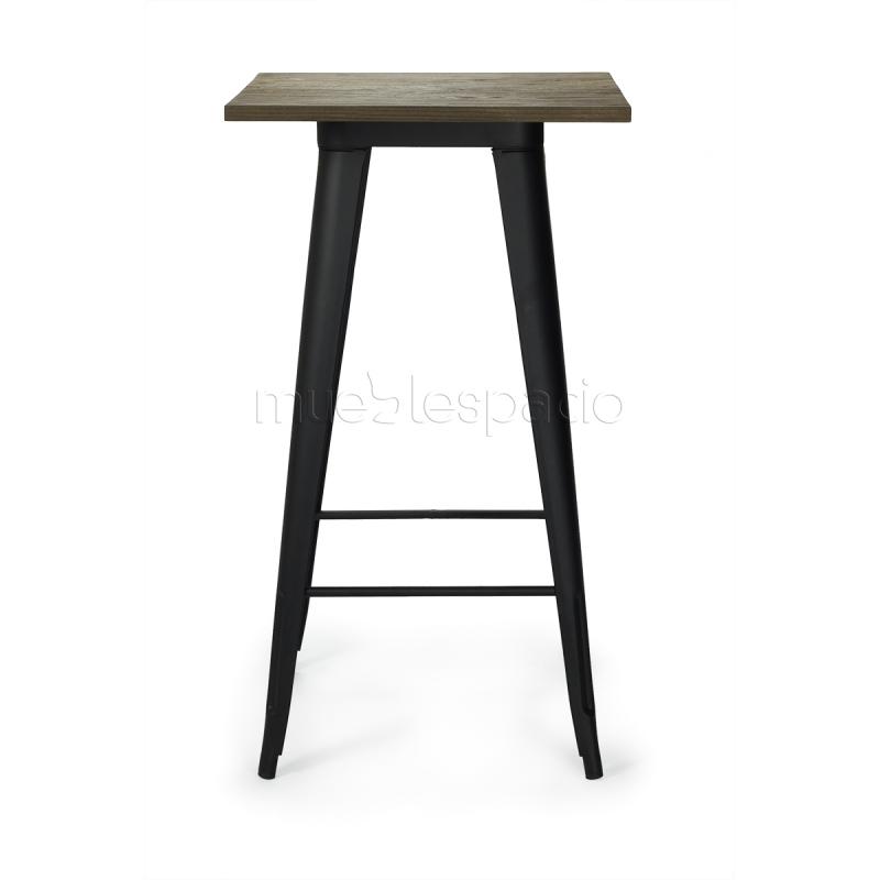 Mesa tolix xavier pauchard estilo vintage para bar for Mesa alta madera bar