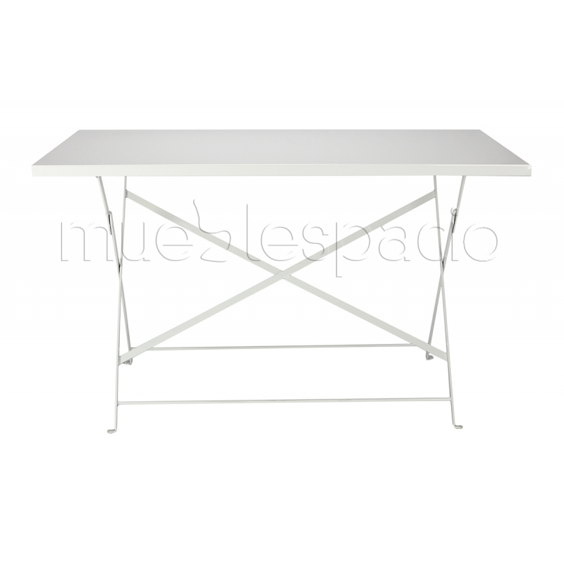 Comprar mesa estilo bistro plegable 120 colores blanco for Mesa plegable diseno