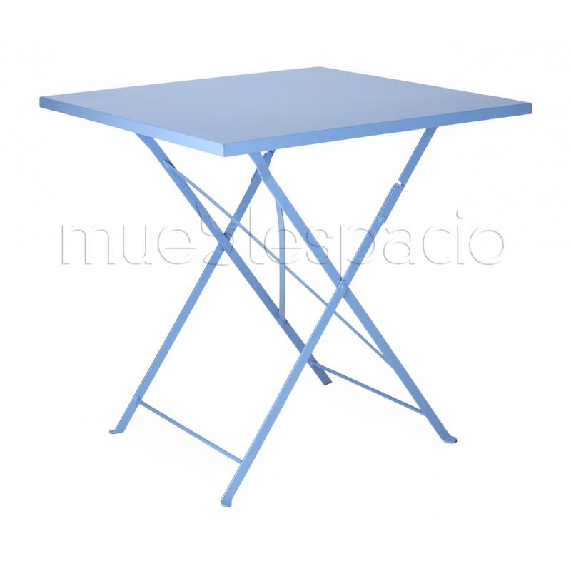 Mesa bistro plegable mueblespacio for Mesa cuadrada plegable