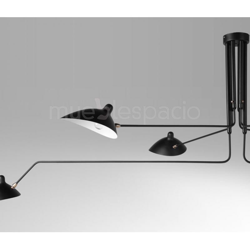 Lampara serge mouille techo mueblespacio for Replicas lamparas de diseno