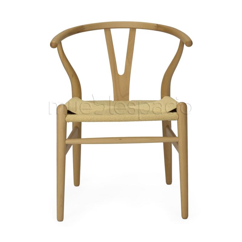 silla wishbone ch24 de hans j wegner mueblespacio. Black Bedroom Furniture Sets. Home Design Ideas