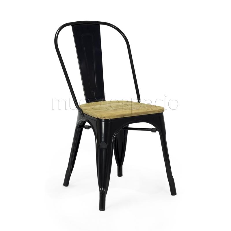 Silla vita madera color de dise o estilo vintage industrial for Sillas madera colores