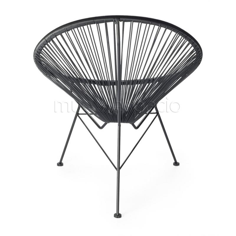 Mueblespacio comprar silla acapulco negro de dise o online for Sillas online diseno