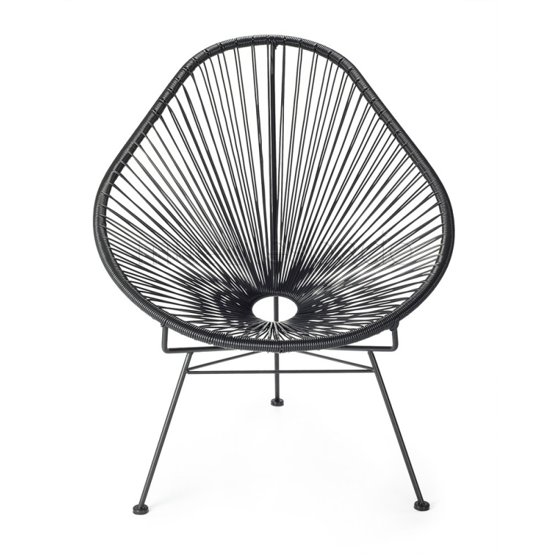 Mueblespacio comprar silla acapulco xl negro de dise o online for Silla acapulco