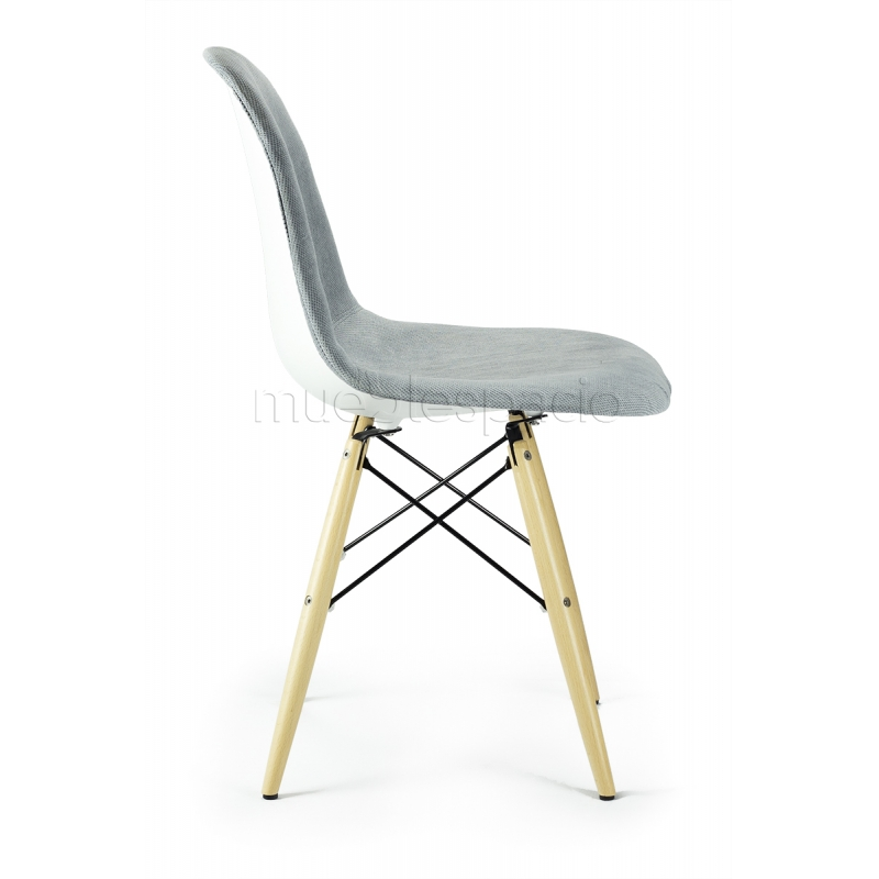 Silla plastic tapizada madera de dise o estilo vintage for Sillas estilo industrial baratas