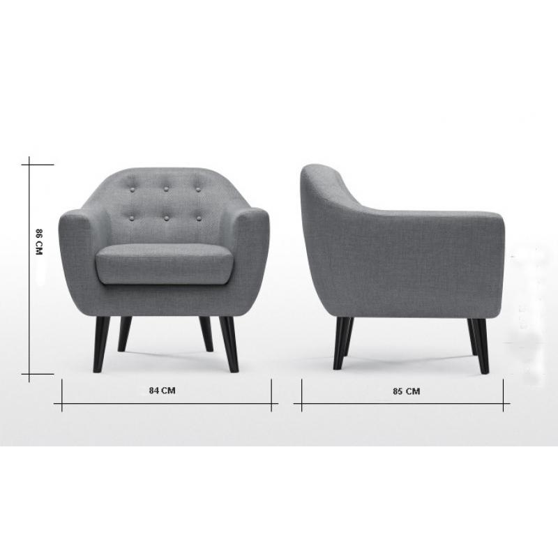 Sofa nordico 1 plaza instalaciones mueblespacio for Sillon 1 plaza barato