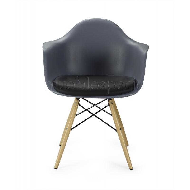 Sill n topo madera coj n de dise o estilo vintage industrial - Cojin sillon ...