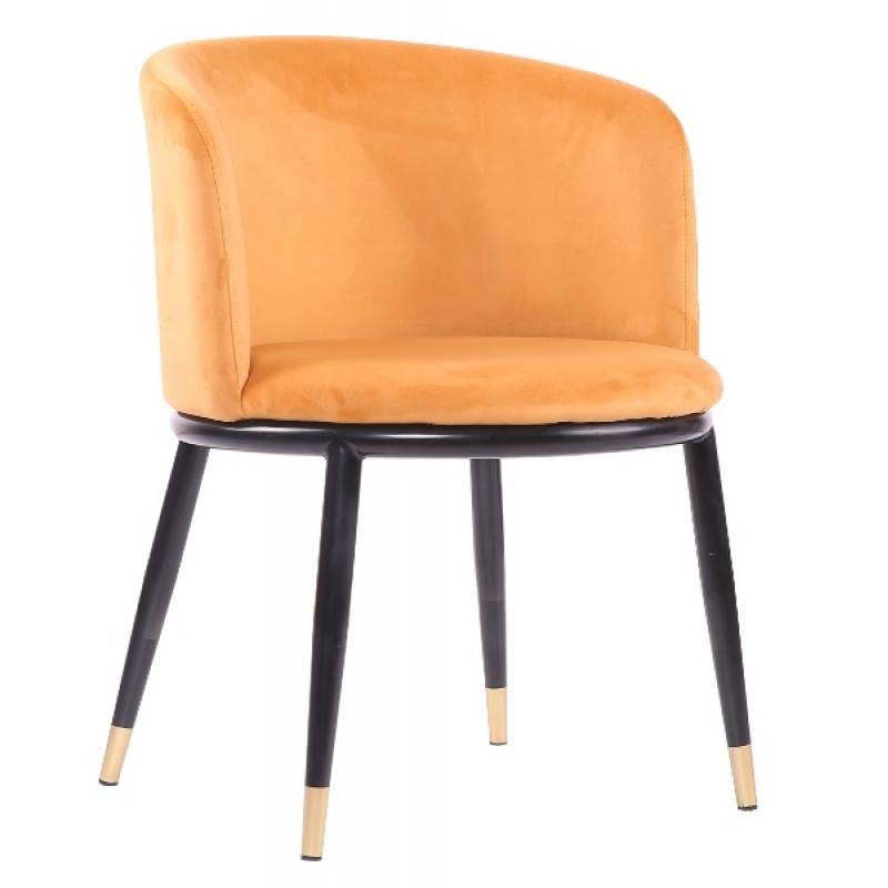 Sillon Velvet Ross mostaza de diseño | Mueblespacio
